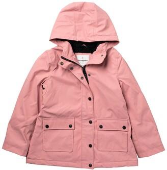 Urban Republic Hooded Faux Shearling Lined Rain Coat