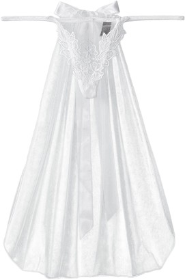 iCollection Women's Embroidered Lace G-String and Veil