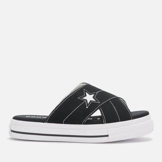 Converse One Star Slip Sandal - Black/Egret/White