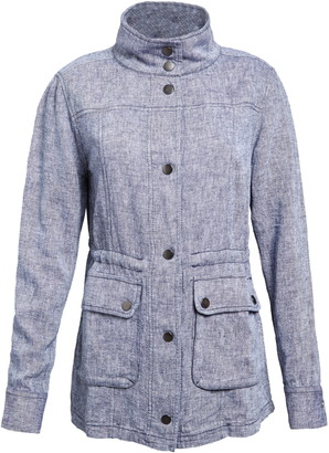 Caslon Linen Blend Utility Jacket