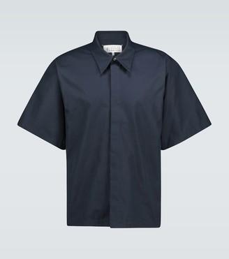 Maison Margiela Short-sleeved cotton overshirt