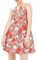 Topshop Illusion Jacquard Minidress