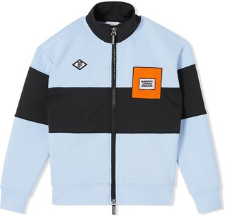 BURBERRY KIDS Colour Block Jersey Jacket