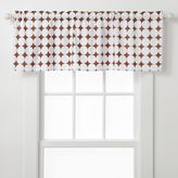 Bacati Quilted White & Chocolate Circles Valance