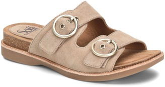 Sofft Double-Buckle Leather Sandals - Brooklyn