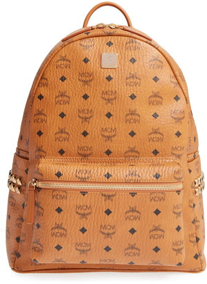MCM Medium Stark Visetos Studded Backpack