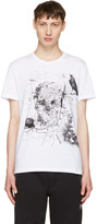 Alexander McQueen White London Map T-Shirt