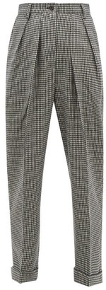 J.W.Anderson Checked Wool Blend Trousers - Womens - Black White
