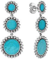 Lagos Maya 3-Drop Earrings, Turquoise