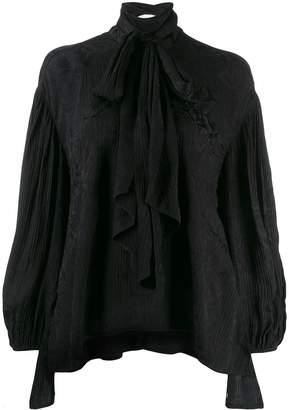 Chloé asymmetric bow tie blouse