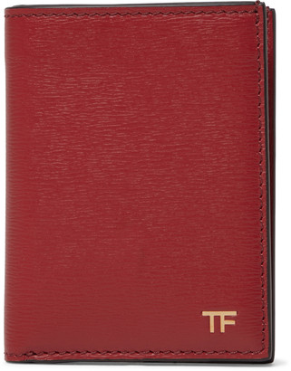 Tom Ford Textured-Leather Bifold Cardholder - Men - Red