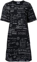 Muveil printed T-shirt dress