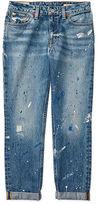 Ralph Lauren 7-16 Paint-Splattered Skinny Jean