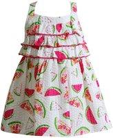 Youngland Baby Girl Watermelon Seersucker Dress