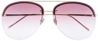 Linda Farrow 18kt gold-plated Dee aviator sunglasses