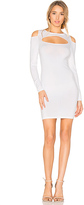 Central Park West Palm Springs Bodycon Dress in White. - size L (also in M,S)