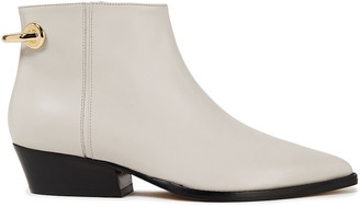 Tibi Appliqued Leather Ankle Boots