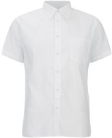 Universal Works Seersucker Short Sleeve Shirt White