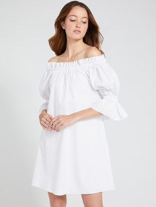 Alice + Olivia Paola Off Shoulder Mini Dress