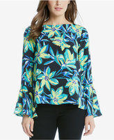Karen Kane Printed Flare-Sleeve Top