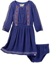 Lucky Brand Sasha Embroidered Dress & Bloomer Set (Toddler Girls)