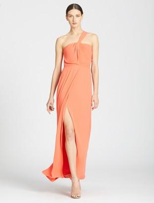 Halston One Shoulder Twist Gown