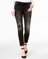 Tommy Hilfiger Ripped Embellished Black Wash Skinny Jeans, Only at Macy's