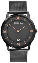 Sekonda 1187.00 Date Bracelet Strap Watch, Gunmetal