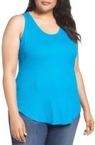 Sejour Plus Size Women's Rib Knit Tank