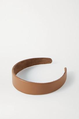Jennifer Behr Cruz Leather Headband - Tan