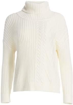 Splendid Lakewood Cable-Knit Turtleneck Sweater
