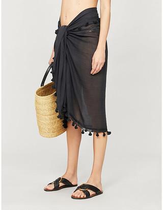 Melissa Odabash Pareo tassel-trimmed cotton and silk-blend sarong