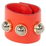 Givenchy Red Leather Bracelet