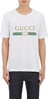 Gucci Men's Cotton Jersey T-Shirt-WHITE