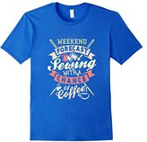 Men's Weekend Forecast Sewing With A Chance of Coffee T-Shirt Medium