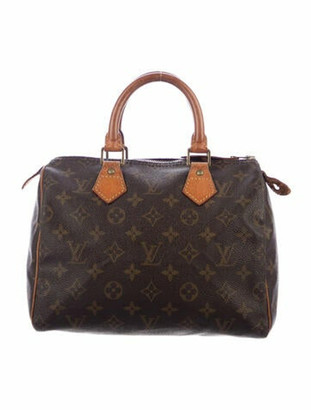 Louis Vuitton Vintage Monogram Speedy 25 Brown