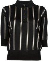 Lanvin cropped striped polo shirt