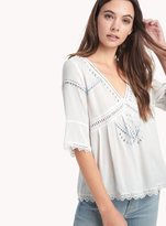 Ella Moss Broderie Anglaise 3/4 Eyelet Top