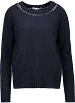 Autumn Cashmere Chain-embellished cashmere sweater