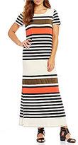 Gibson & Latimer Striped Knit Dress