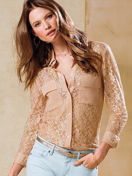Victoria's Secret Silk Button-down Shirt