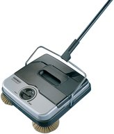 Leifheit Leifheit40 Classic Manual Rotaro Carpet Sweeper with Natural Brushes, and Gray