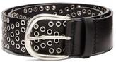 Isabel Marant Mawo Eyelet Leather Belt - Womens - Black