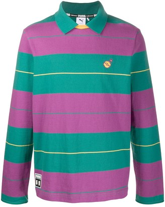 Puma x The Hundreds striped polo shirt