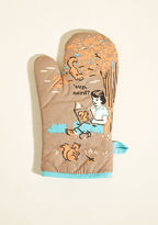 ModCloth It's the Hot That Counts Cotton Oven Mitt in Brown
