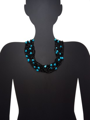 Arthur Marder Fine Jewelry Silver & Turquoise Multi-Strand Beaded Necklace