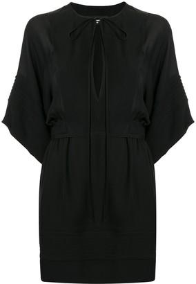 DSQUARED2 tied-neck plain short dress