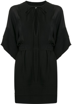 DSQUARED2 Tied-Neck Plain Short Dress
