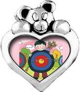 GiftJewelryShop little boy red arrow target Red Zircon Crystal July Birthstone I Love You Heart Care Bear Charm