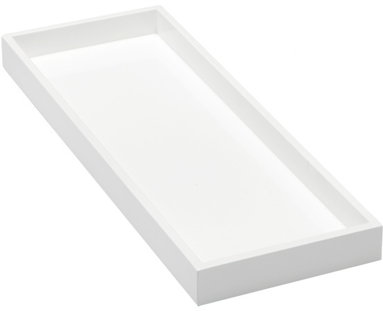 Container Store Lacquer Tray White